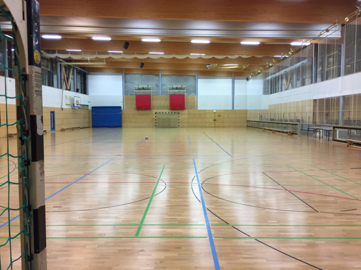 Sporthalle Rauschwalde Görlitz Innenansicht